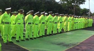 Polres Magetan Siagakan Personel Berjas Hujan