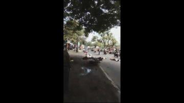 Jalan Berlubang Picu Kecelakaan Beruntun